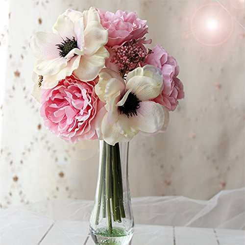 4th anniversary: Peony and Anemone Silk Bouquet