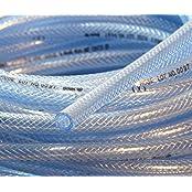 10Ft 3Metre High Pressure Braided PVC Water Tubing Clear Hose Braid Reinforced