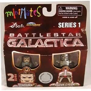 Battlestar Galactica Exclusive Mini Mates Series 1 Adama and Razor Cylon
