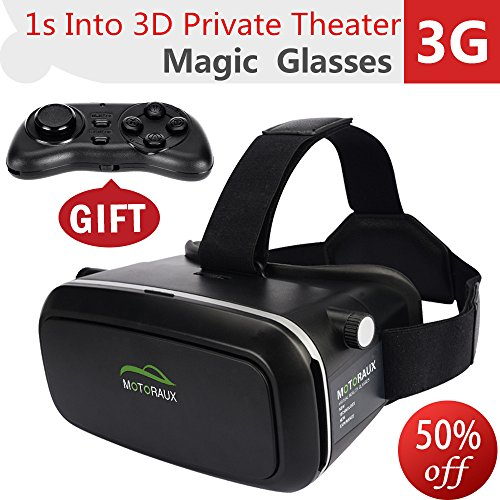 Motoraux ® 3D VR Virtual Reality Glasses Headset , Suitable for Google,...