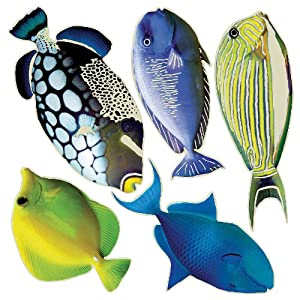 Brewster Crearreda CR-42101 Tropical Fishes Glow in the Dark Wall Decals at Sears.com