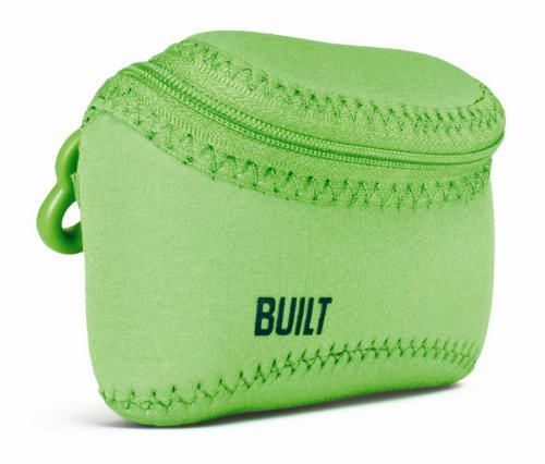 BUILT E-SSC-LIM Soft Shell Neoprene Compact Camera Case, Lime Green