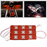 #2: Vheelocityin 9 LED Custom Cuttable Bike/ Car Red Light for Interior/ Exterior