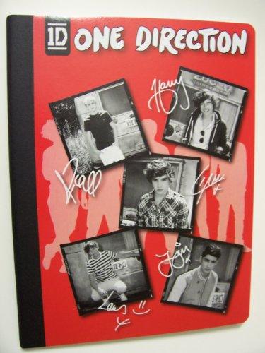 "One Direction (1D) Composition Book ~ Tour Photos And Autographs (7.5"" X 9.75""; 80 Sheets, 160 Pages)"