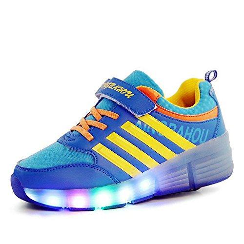 Unisex-Kidd-adulto-zapatos-de-rodillo-de-velcro-y-luz-LED-hasta-una-rueda-ropa-de-deporte-zapatillas