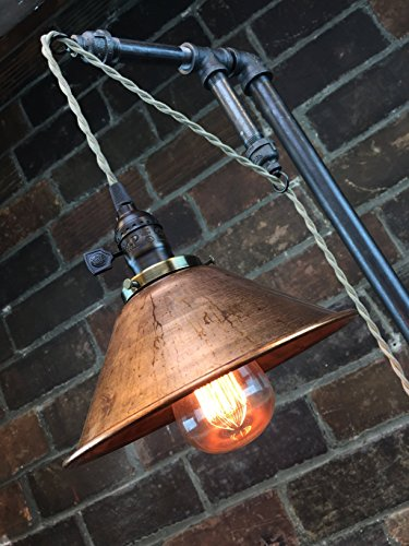 Industrial Style Floor Lamp - Pendant Edison Bulb - Copper Shade 3