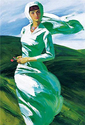 Oil Painting 'A Woman In The Wind' Printing On Perfect Effect Canvas , 12x18 Inch / 30x45 Cm ,the Best Powder Room Decor And Home Artwork And Gifts Is This Reproductions Art Decorative Canvas Prints (Pro 200 Hot Melt Glue Gun compare prices)