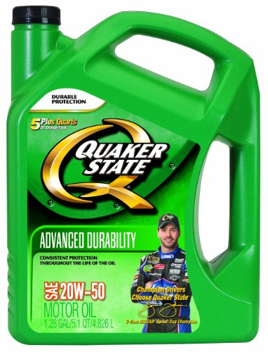 Motor oils quaker state 20w50 advanced durability for Quaker state conventional motor oil