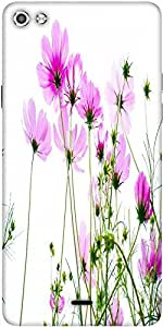 Snoogg Pink Cosmos 2681 Designer Protective Back Case Cover For Micromax Canvas Silver 5 Q450
