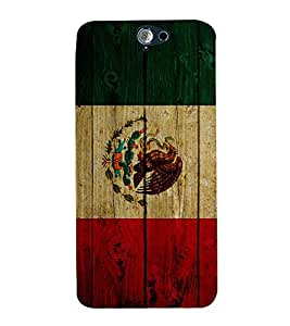 Fuson Premium Back Case Cover Flag design With White Background Degined For HTC One A9