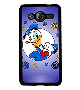 Printvisa donald duck in blue background Back Case Cover for Samsung Galaxy Core i8262::Samsung Galaxy Core i8260