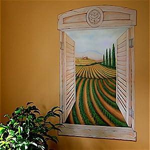 Tuscan window rub on mural transfer wall transfer rub on for Amazon wall mural
