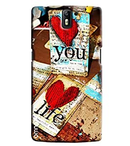 Ómnam Love You Life Printed Designer Back Cover Case For One Plus One