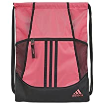 adidas Alliance II Sackpack, Flash Red/Black, 18 x 13.75-Inch