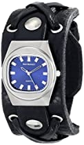 Red Monkey Designs Unisex RM666-XA2 X-Strap 2 Black Leather Blue Dial Watch