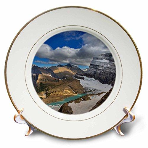 Danita Delimont - Glacier National Park - Looking down at Grinnell Glacier in Glacier National Park, Montana - 8 inch Porcelain Plate (cp_231082_1)