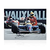 Nigel Mansell Signé Photo: Taxi Pour Senna...