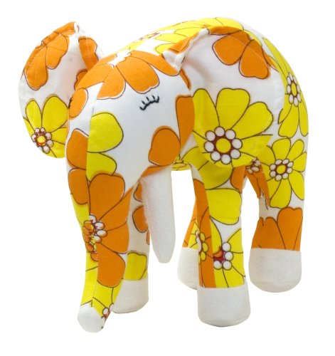 Color Zoo Ellis The Elephant Stuffed Animal - Yellow Fields