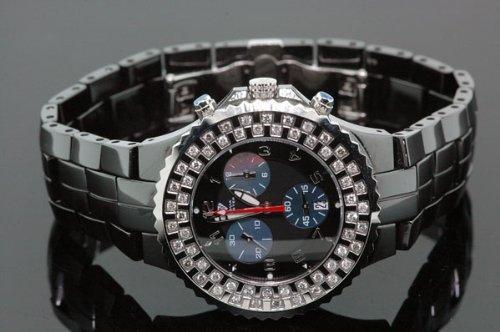 AQUA MASTER 0113MVUPETN - Reloj para hombres, correa de cerámica color negro
