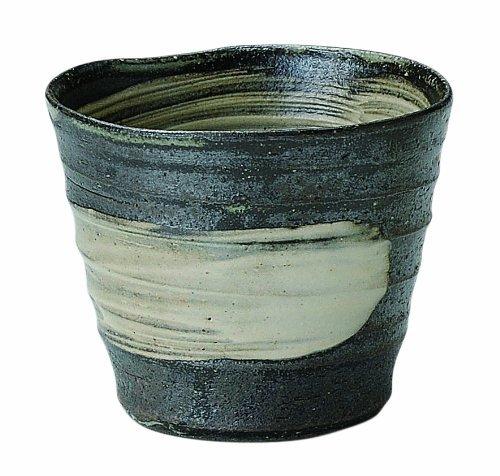Kuroiso Shigaraki-Yaki 3.9Inch Tumbler Black Ceramic Made In Japan