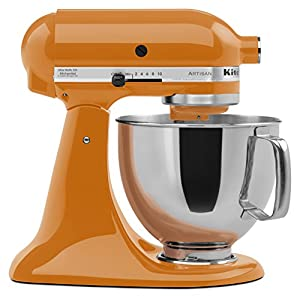 kitchenaid ksm150pstg artisan 5 quart stand mixer tangerine amazon