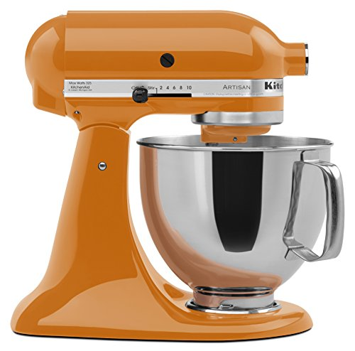 KitchenAid KSM150PSTG Artisan Series 5-Qt. Stand Mixer with Pouring Shield - Tangerine (Kitchen Aid Mixer Tangerine compare prices)