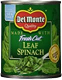 Del Monte Spinach, 7.75 Ounce (Pack of 12)