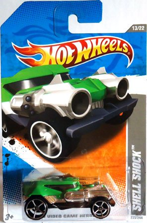 2011 Hot Wheels SHELL SHOCK HW Video Game Heroes 13 of 22 #235 green - 1