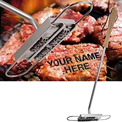 BBQ Branding Iron Set With Changeable Letters Names Alphabet