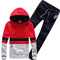 Magiftbox Men\'s Pullover Jogger Hoodies & Pants Sports Suit Sets