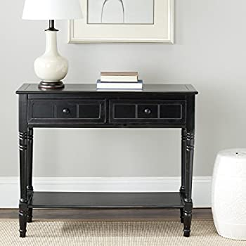 Safavieh American Home Collection Console Table, Distressed Black