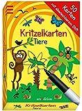 Kritzelkarten Tiere: mit abwischbarem Stift (50 Karten)