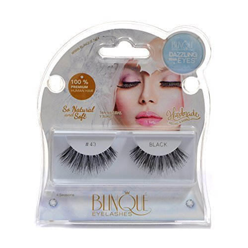 Blinque 100% Human Hair False Eyelashes 6 Pairs,Color# 43 by Blinque eyelash