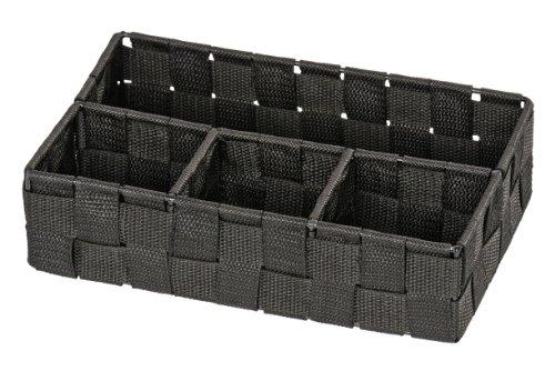 Wenko 20976100 Adria Panier pour Salle de Bain PM Noir Dimensions 26 x 17 x 6,5 cm