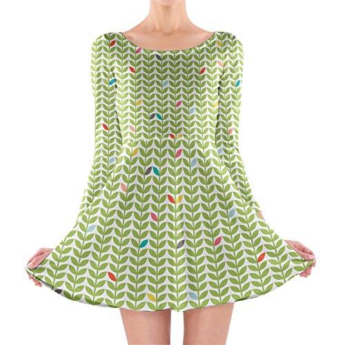 Queen of Cases Sixties Mod Flowers Longsleeve Skater Dress - 3XL Kleid mit langen Ärmel XS-3XL