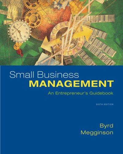 Small Business Management: An Entrepreneur's