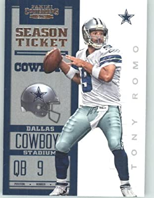 2012 Panini Contenders Playoff Season Ticket # 25 Tony Romo - Dallas Cowboys (NFL Football Trading Card)