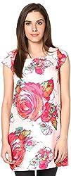 Shibori Women's Dress (Ds5059St_M, Peach, Medium)