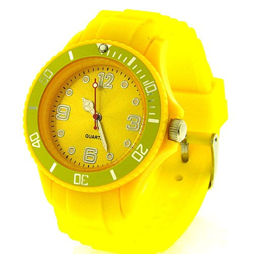 Unisex Wrist Watch - Toy Fashion Designer - Yellow