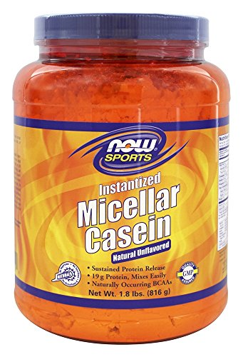 Instantized Micellar Casein Natural Unflavored Now Foods 1.8 Lbs Powder