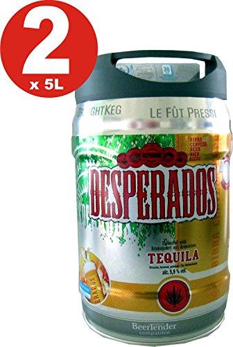 2-x-Desperados-cerveza-con-tequila-en-5-litros-barril-incl-Espita