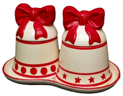Quality Christmas Bell Canister Set Holiday Gifts Kitchenwares