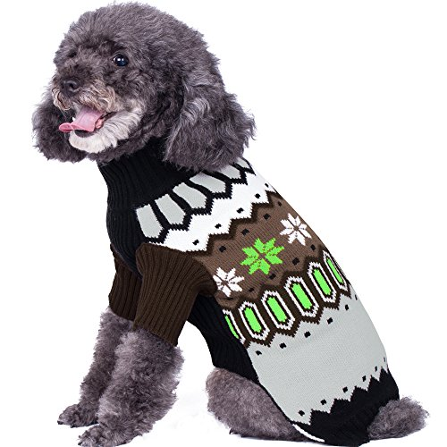 Blueberry Pet Nordic Fair Isle Unisex Dog Sweater