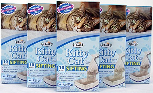 Alfapet Kitty Cat Sifting Litter Box Liners- 10 Per Box Plus 1 Transfer Liner... (Sifting Cat Pan Liners compare prices)