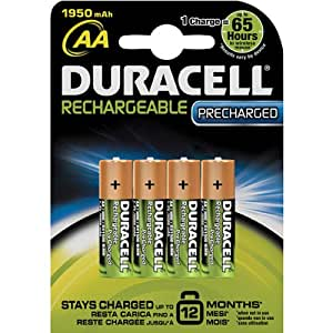 Amazon.com: Duracell AA4 Rechargeable Battery 1950 mAh 4