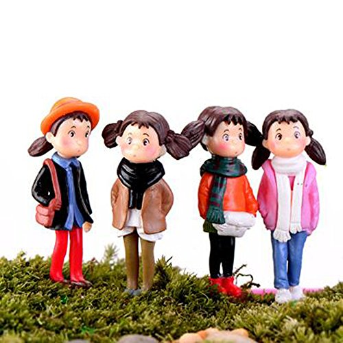LU2000-Asian-People-Minifigures-Small-Size-Micro-Figurines-Statue-Girls-With-Scarf-Autumn-Series-for-Micro-Landscape-Desk-Home-Decoration-Little-Statue-Mini-Sclupture-Pack-of-4