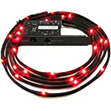 NZXT CB-LED20-RD 2-Metres Light Sensitivity Sleeved LED Kit (Red)