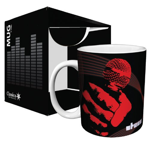 Steez Microphone Urban Graffiti Music Art Ceramic Boxed Gift Coffee (Tea, Cocoa) 11 Oz. Mug