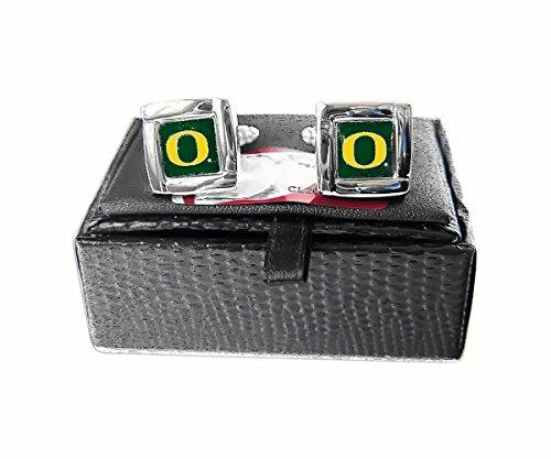 Oregon Ducks Team Logo NCAA Square Cufflinks Gift Box Set