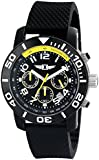 I By Invicta Men's 41701-001 Chronograph Black Stainless Steel Watch With Black Rubber Band